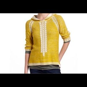 Anthropologie Far Away From Close Yellow Knit XL